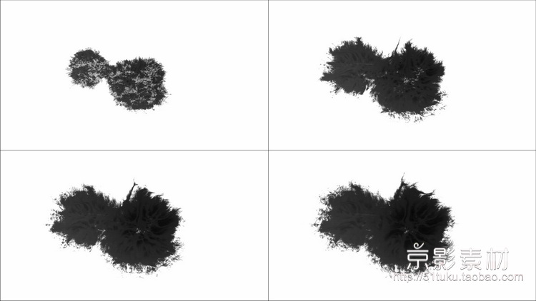 Ink Blots V2 60组水墨滴落印迹墨水散开晕染高清视频素材