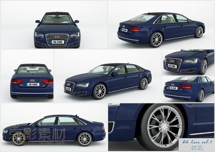 HQ Cars 1 for Cinema4D-11个高精度汽车C4D模型Cinema 4D模型