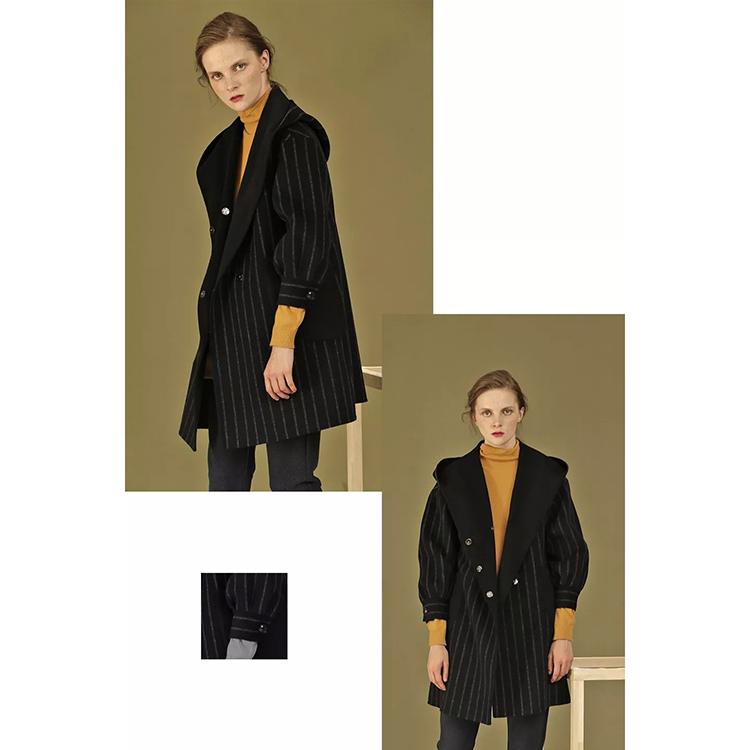 Counter thời trang cao cấp giảm giá 79,2% hàm lượng len trung bình và áo len dài 17037 - Accentuated eo áo