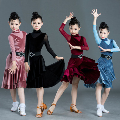 Latin dance dress for children and girls dance dress for children professional sexy training performance dress competition performance dress for women