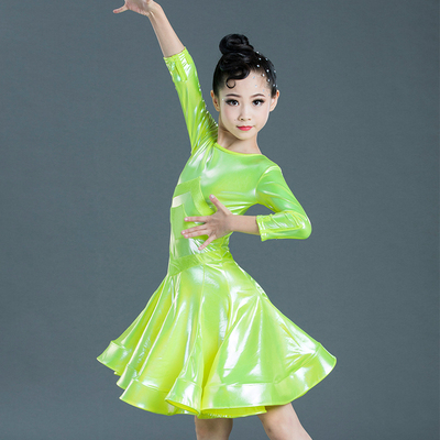 Girls Latin Dance Dresses Fashion Latin dance competition clothing children's performance clothing standard practice examination level girl's Latin dance skirt