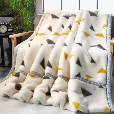【4-7斤双层加厚】拉舍尔毛毯秋冬毛毯结婚庆盖毯单双人学生午睡