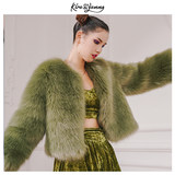 KiRayanng 2020 winter new short paradise green high-end integrated imitation leather coat coat