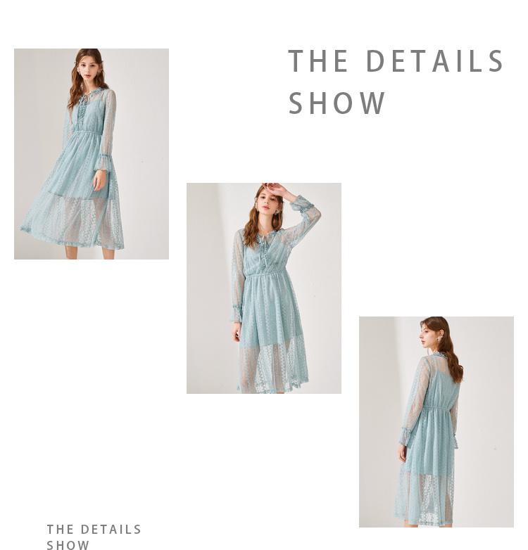 秋水伊人裙子新款女装时尚两件套 简约版型 舒适面料法国小众连衣裙