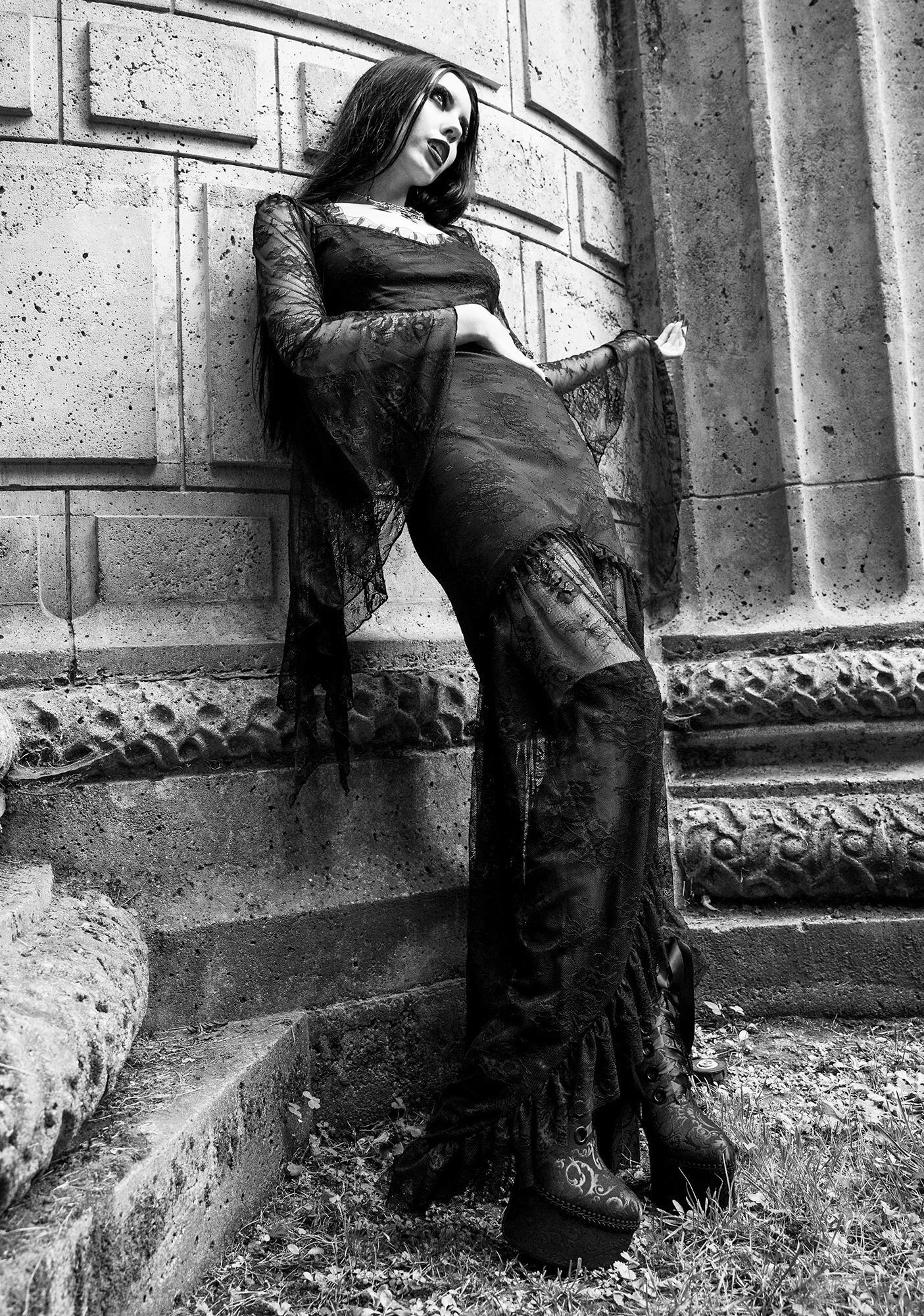 cool酷兒家 暗黑Widow HEAVY IN YOUR ARMS哥特女巫蕾絲維多利亞吸血鬼連衣裙