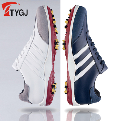 2017 new golf shoes men's shoes waterproof comfortable non-slip activities spike soles casual sports shoes