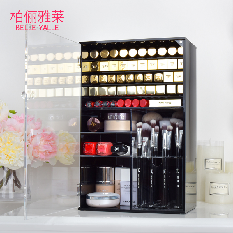 Small fragrance acrylic small luxury multi-functional cosmetics and skin care lipstick storage box makeup brush storage barrel