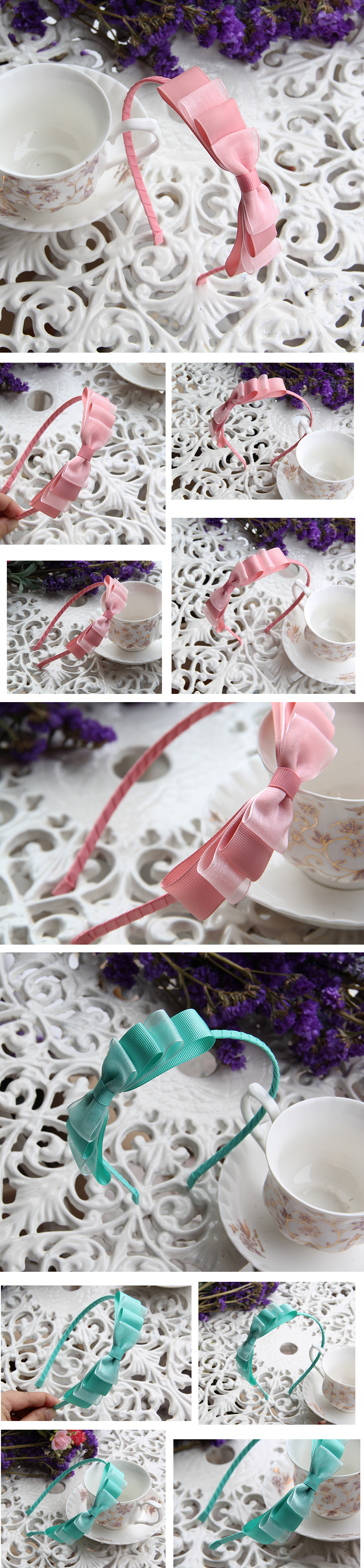 The Bow Head Hoop Hair Card Hoop Multi-layer Temperament Bride Headdress Party Birthday Christmas Gifts