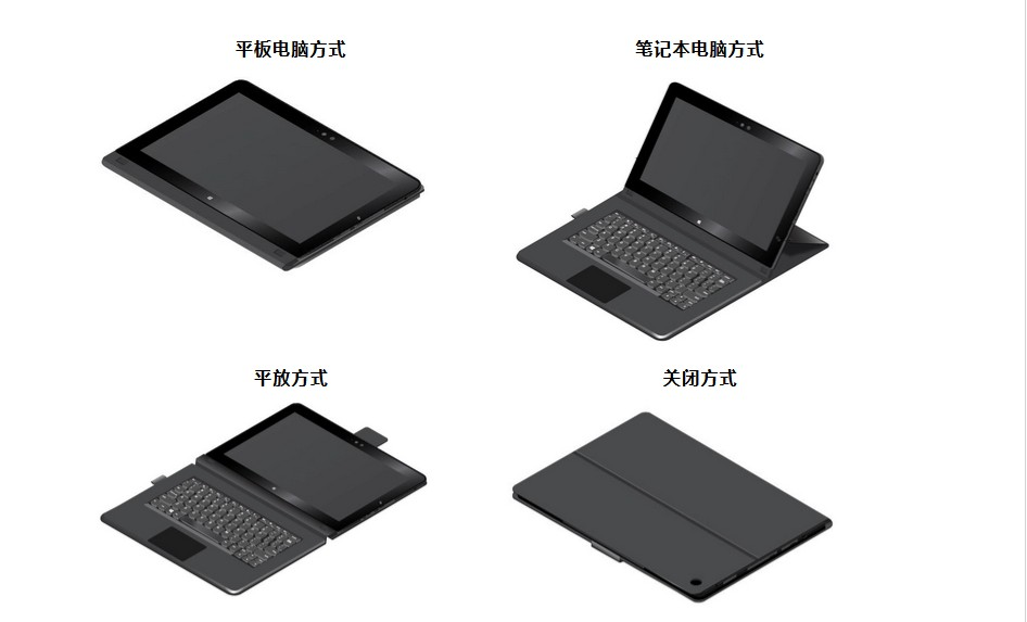 03X9135联想IBM thinkPad Helix Folio keyboard Switzerland 20CG 20CH 皮套键盘