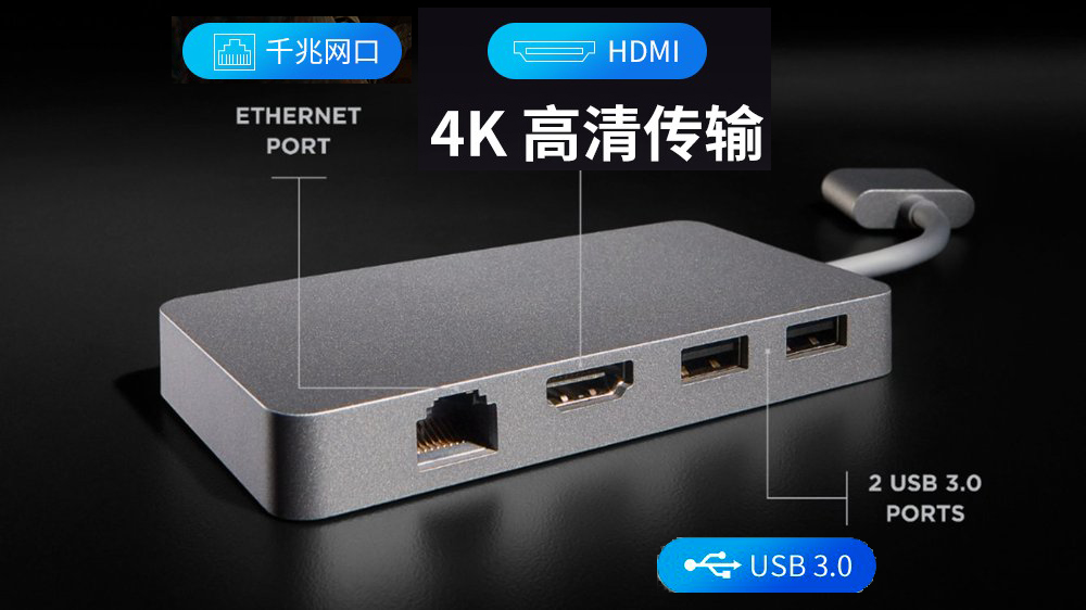 PT 雷电3 高速40Gbps type c拓展坞 5k高清HDMI USB3.1 Macbook 100w充电 USB C Gigabit Ethernet 千兆网卡SD TF Card reader