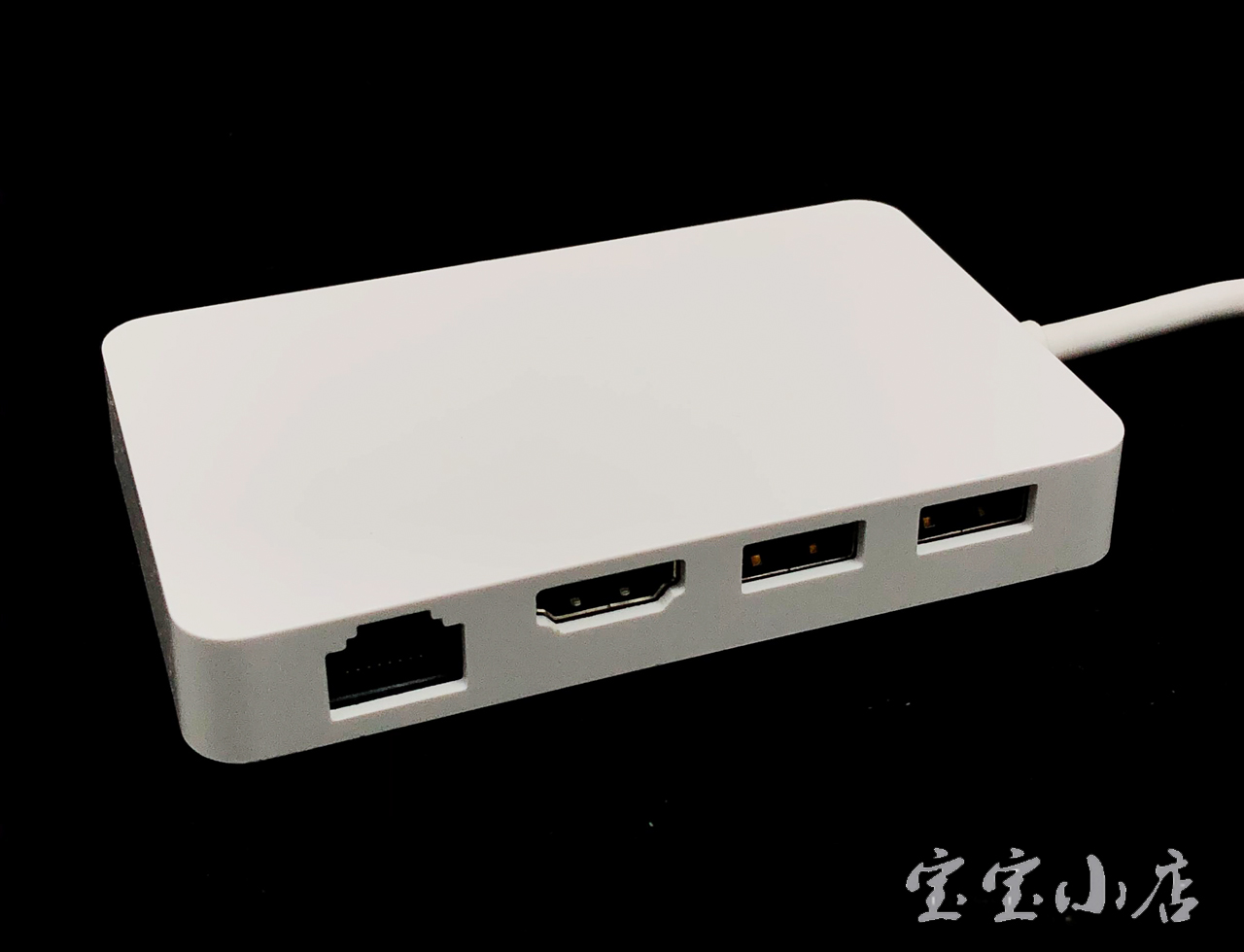美国影雅InsigniaInsignia 7-Port TypeC Hub Gigabit Ethernet Adapter NS-PUCHUB219 Type C Cable千兆以太网适配器的7端口Type-C集线器 87W供电 5Gbp/s typec to HDMI