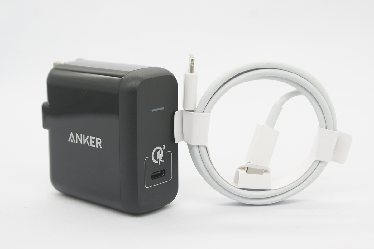 出口日本ANKER快充头PD3.0充电器24W兼容苹果Iphone 手机电源头Ipad Pro不伤电池 A2012 PowerPort 1 USB-C With Quick Charge 3.0