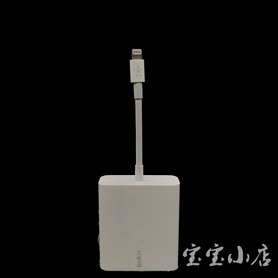 Belkin F8J227 乙太网络+带Lightning 接口的电源转接器  闪电接口 Gigabit Ethernet + Power Adapter with Lightning Connector