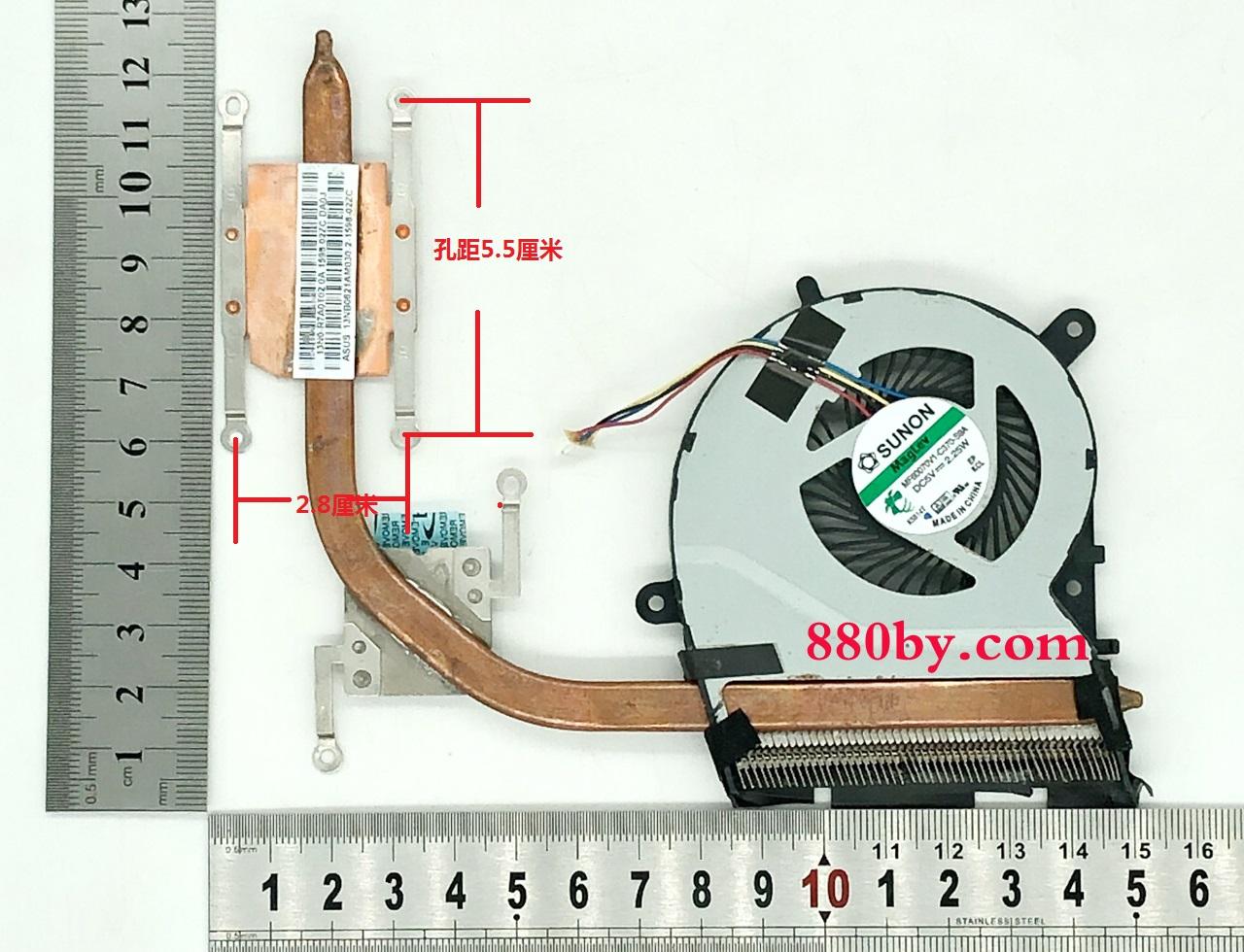 13N0-R7A0T02 Asus f554ld x554l k555ld LA LN LP 散热风扇 模组 铜管