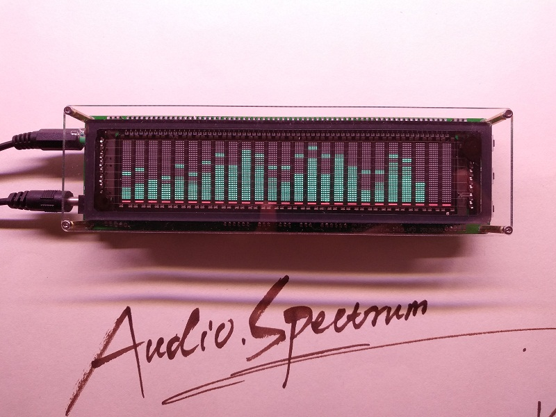 Dual Channel VFD Music Spectrum Display with Electronic Clock For DIY Audio