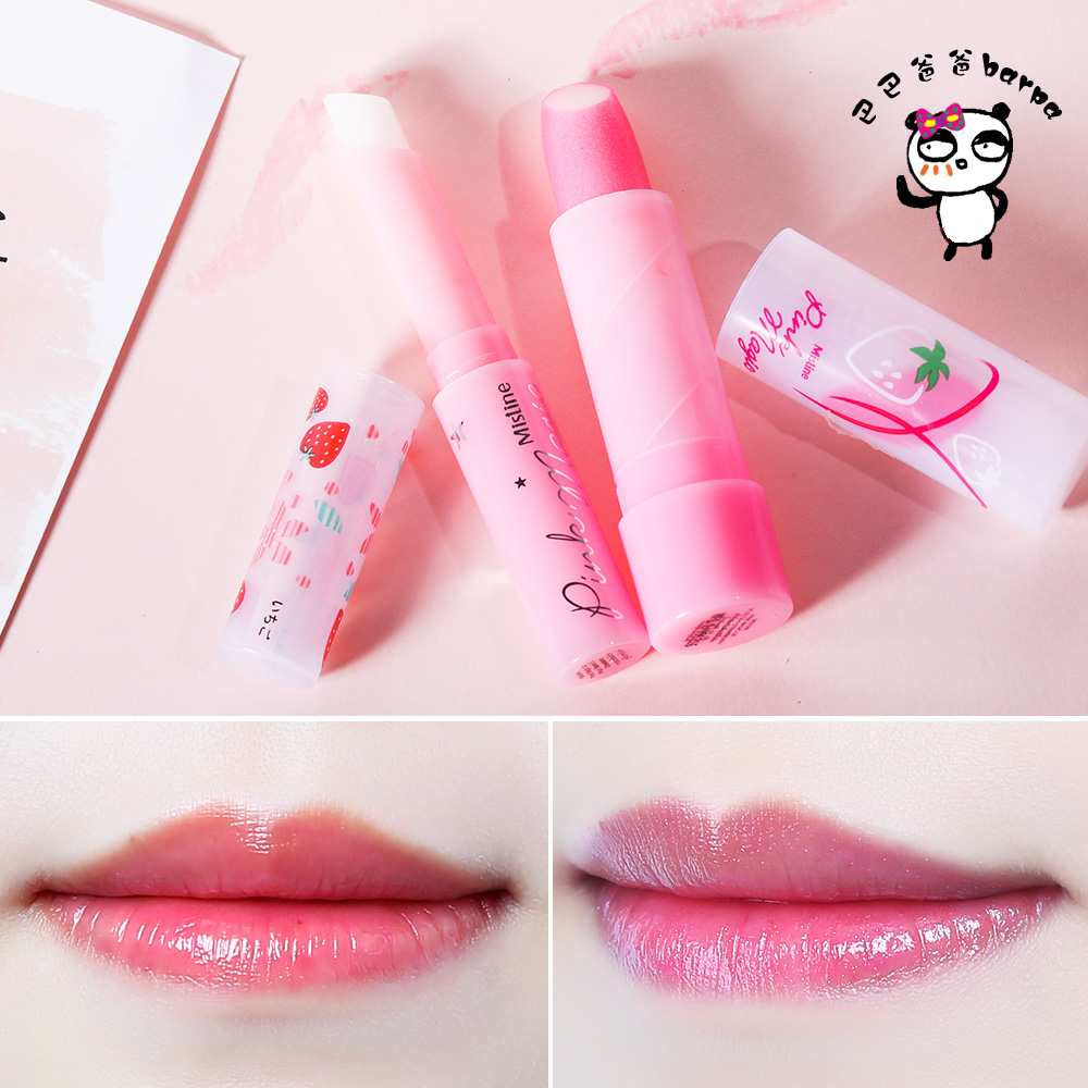 Usd 885 Barpa Thai Mistine Size Strawberry Color Change Lip Balm Moisturizing Long Lasting Female