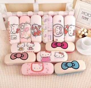 kt cat myopia glasses case ins girl model simple student creative personality portable pressure-proof cute eye box female
