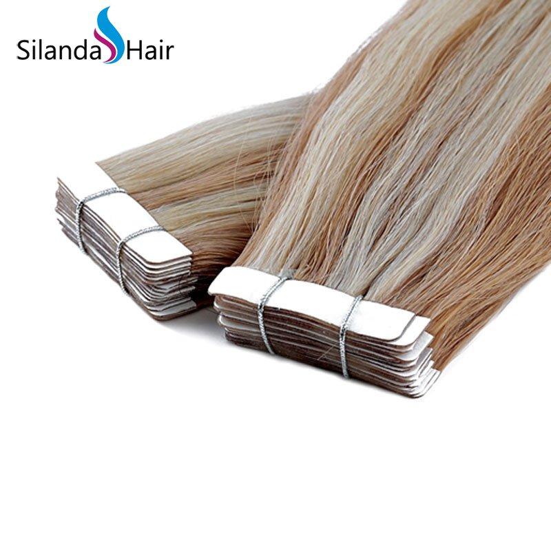 Silanda Hair #P27/613 Luxury Remy Skin Weft