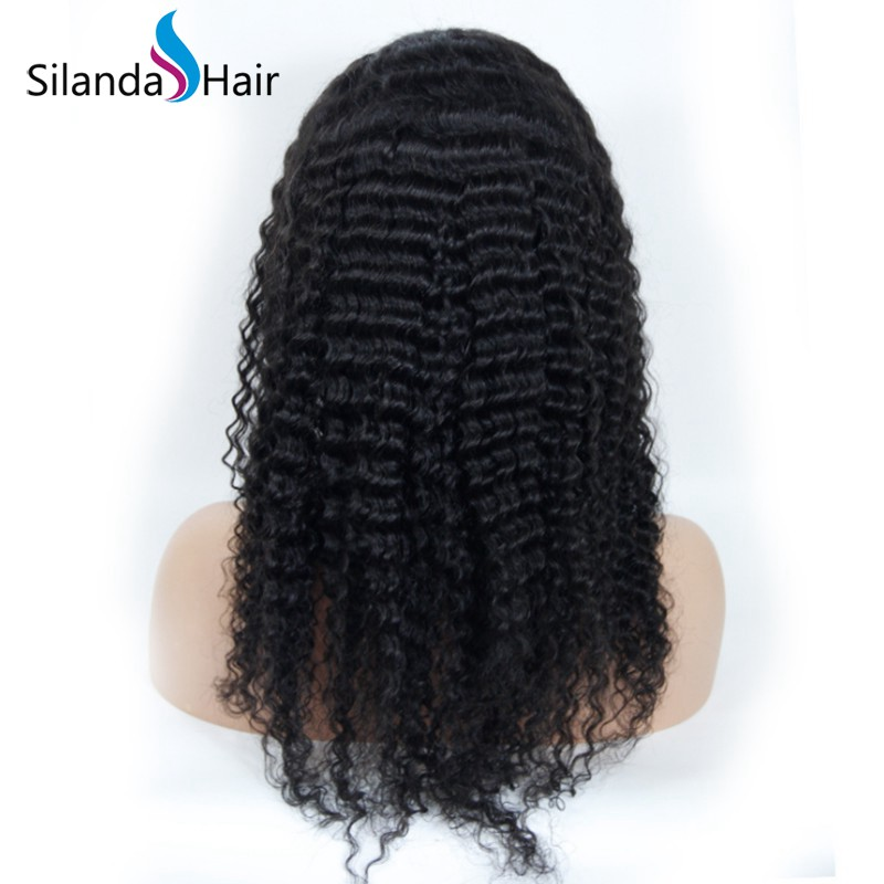 Silanda Hair Fashion Natural Color Jerry Curly Brazilian Remy Human Hair Lace Front Full Lace Wigs