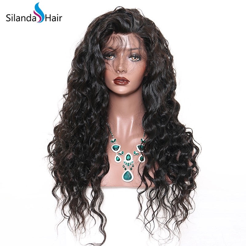 Silanda Hair Best Selling Natural Color Loose Deep Wave Brazilian Remy Human Hair Lace Front Full Lace Wigs