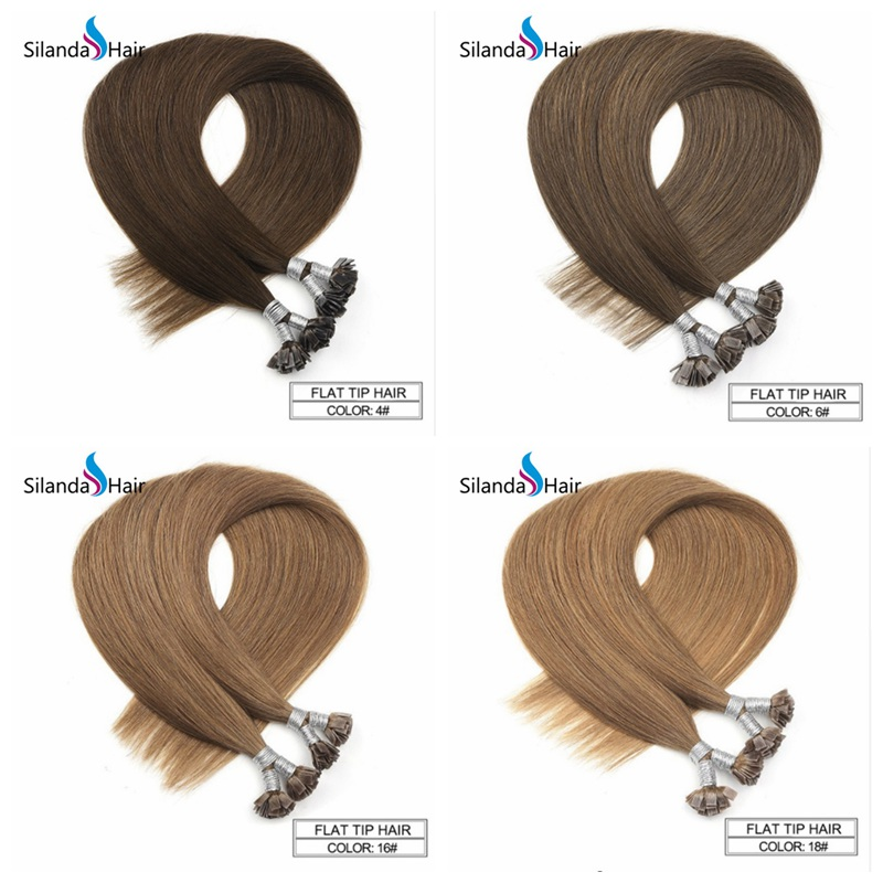 Silanda #6 Straight Pre Bonded Hair Extensions
