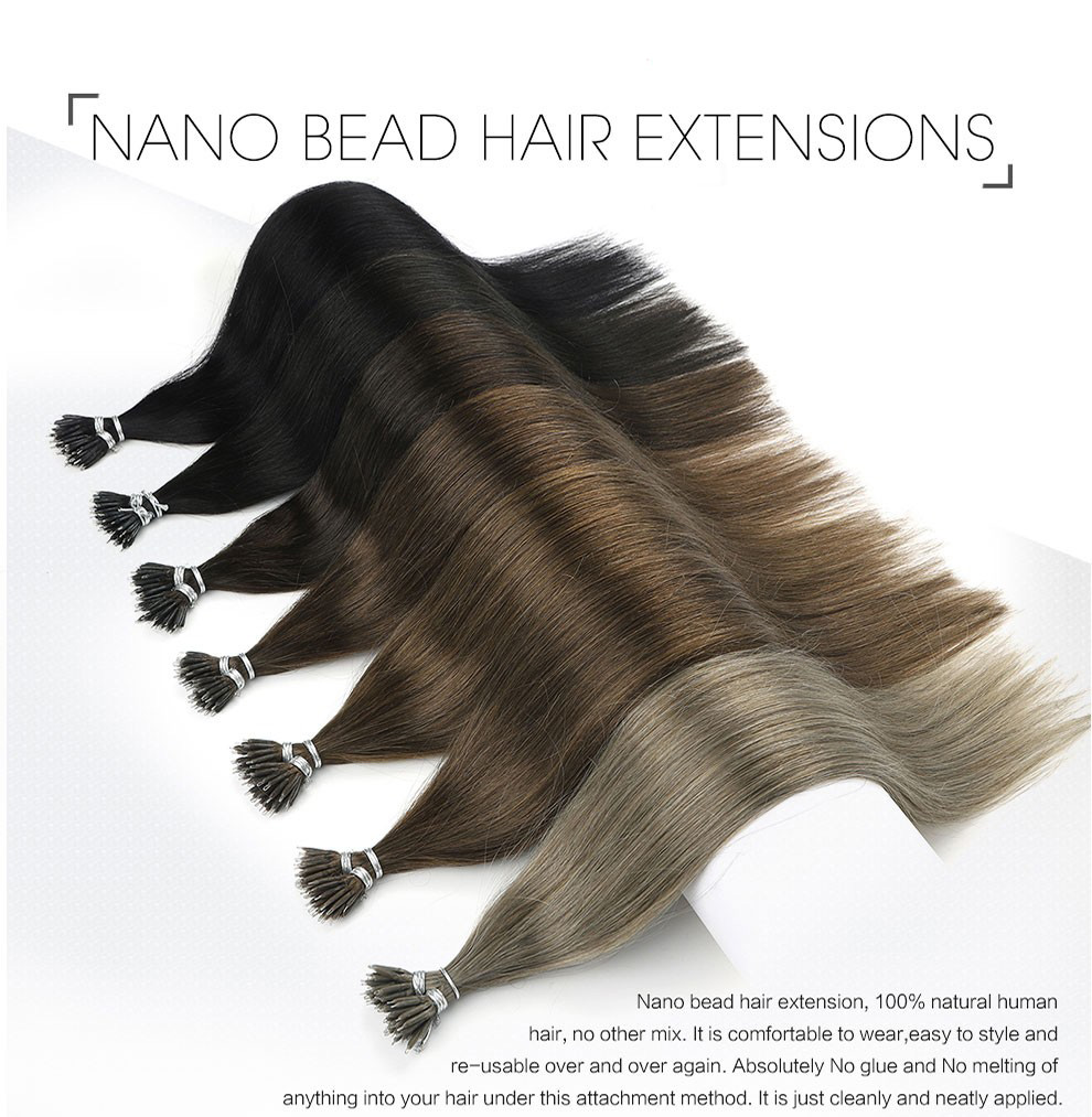Silanda #613 Blonde Nano Bead Hair Extensions