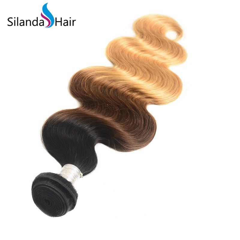 Silanda Ombre Color #T 1B/4/27 Body Wave Bundles