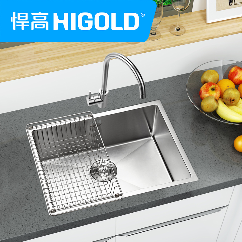 USD 195.55] HIGOLD defended high sink single groove 304 stainless ...