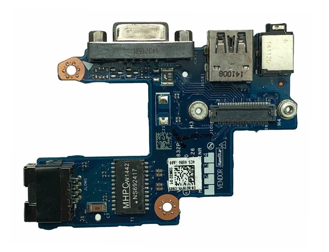 戴尔Dell Latitude E5440 Audio USB VGA Ethernet Board 0G1WYK CN-0G1WYK VAW30 LS-9832P 接口 音频板