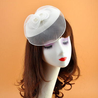 New Hat Female Little Hat Beret Wine Party Hat Evening Dress Headdress Euro Simple Wedding Party Hats