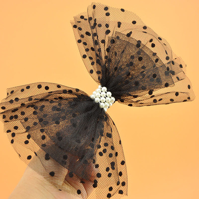 Children's Day Headdress Big Butterfly Knot Hairpin Girl Screen Spot Hairpin Pearl Performing Stage Hairpin