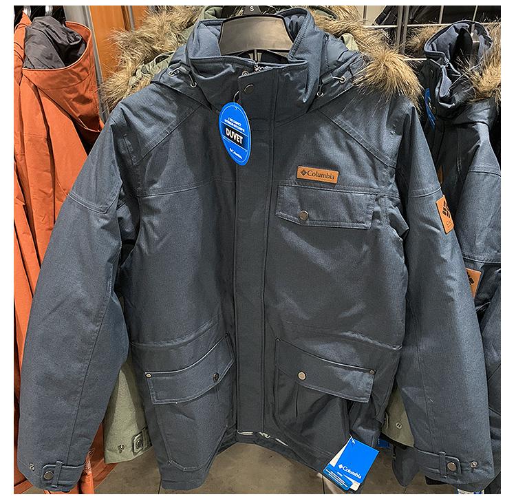 紐約專代可可Columbia 哥倫比亞中長款男羽絨服毛領加厚保暖防水休閒外套