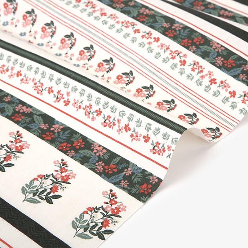 韩国进口印花棉麻布料手工服装手套抱枕桌布门帘面料波西米亚风格