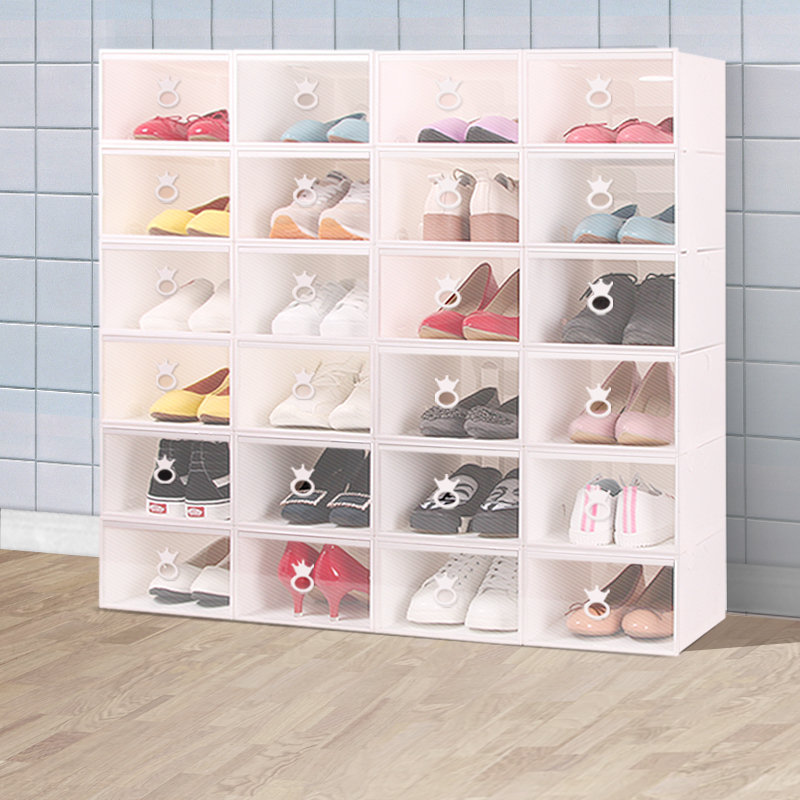 Thick Transparent Shoe Box Drawer Free Combination Men And Women Shoes  Storage Box Dust Plastic Storage ...