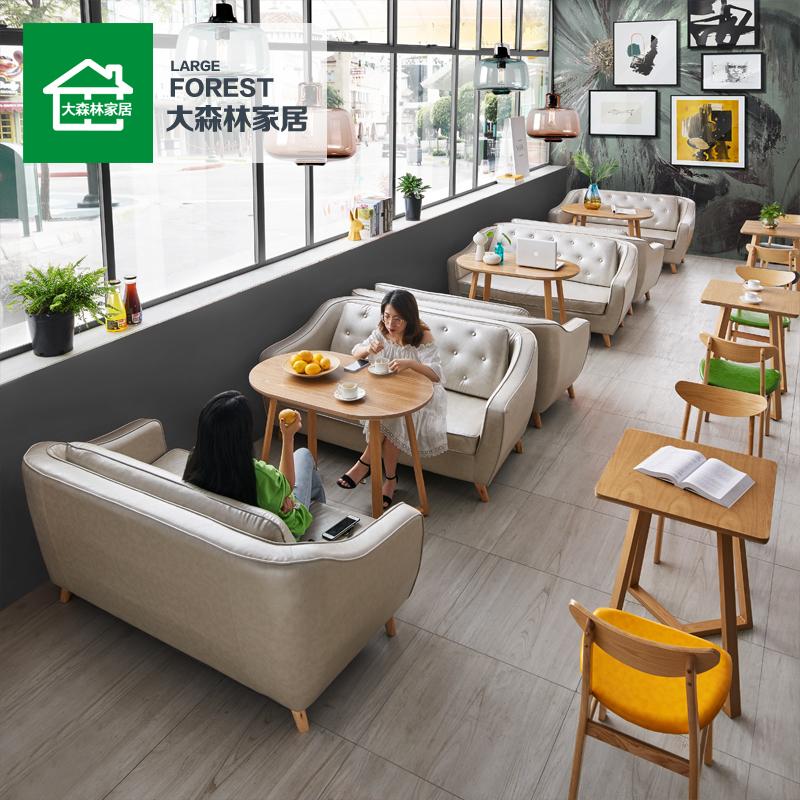 Nội thất rừng lớn Cửa hàng trà đỏ Net Nhà hàng phương Tây Kết hợp Cafe Món tráng miệng Snack Cửa hàng Sofa đôi C6 - FnB Furniture