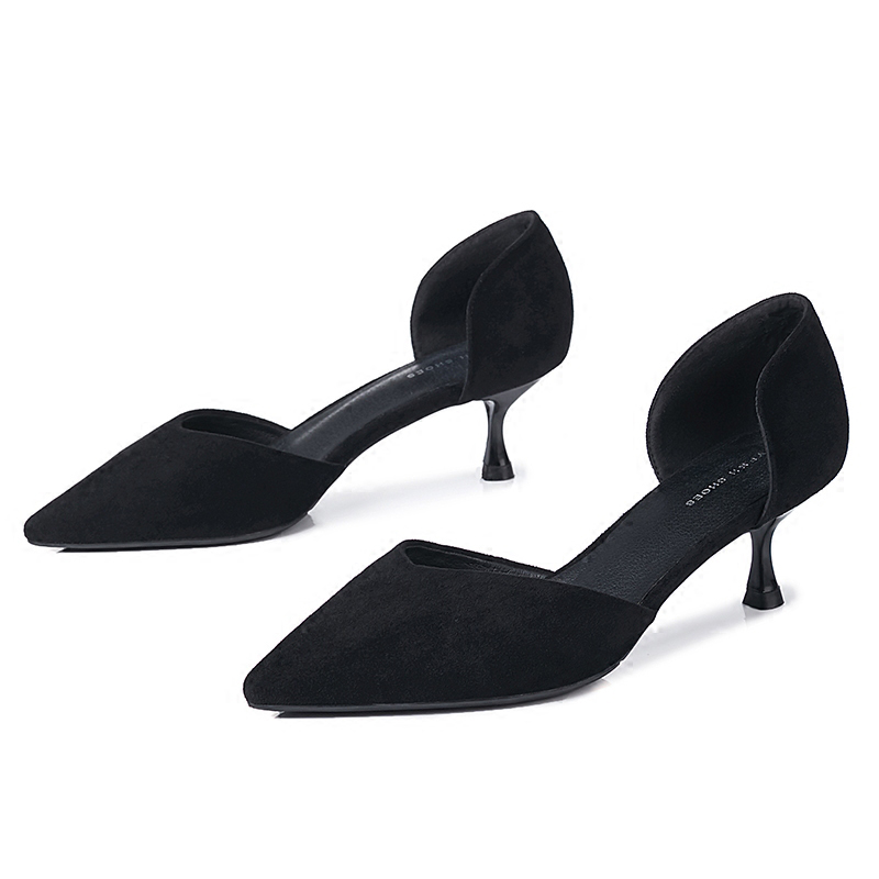 Other 2018 New Female Pointed Head Wild In The Fine Temperament Buckle Cat And Shallow Mouth Single Shoes Womens Shoes Summer