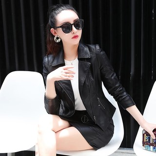 Huayi than 2020 spring new Korean Slim thin leather jacket leather women short paragraph leather jacket fashion wild