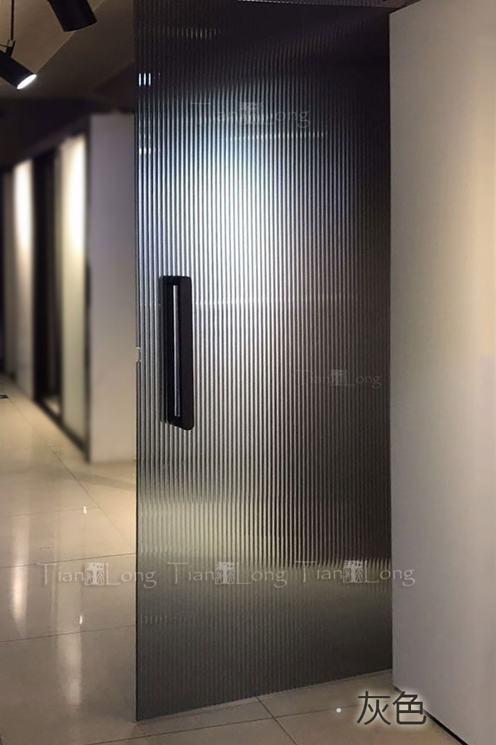 Brown Long Rainbow Laminated Glass Partition Transparent Wave