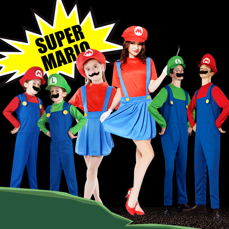 halloween costumes show cosplay costumes cartoon mario costumes festival super mary dress