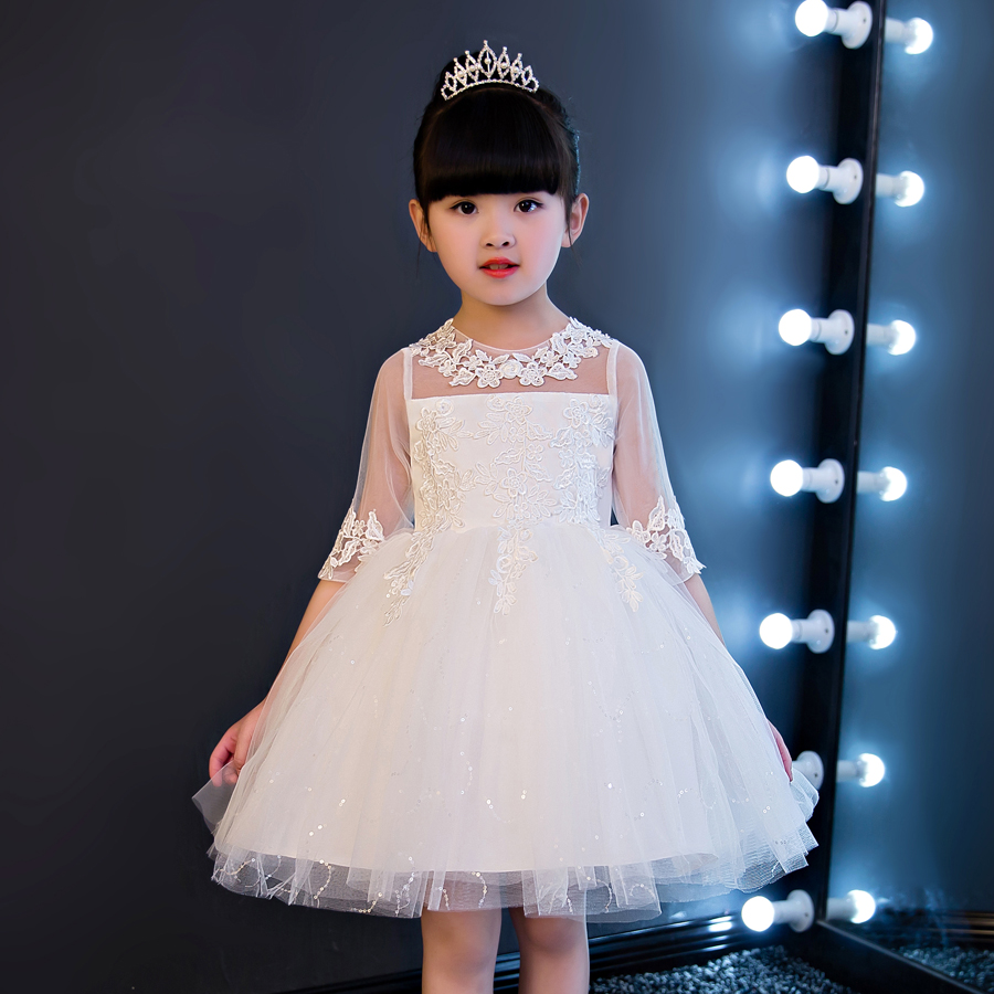 Usd 5520 In The Sleeve Lace Diamond Childrens Dress Female Flower
