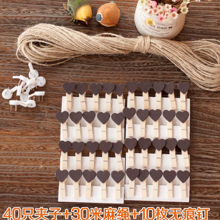 Кофейный Сердце 40 только + гвозди 10 + веревочная веревка 30 метров