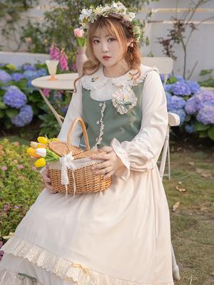 taobao agent Hard Candy Large Size Original Spring Memories 2021 Fairy Dress Summer Vest Suit Fat mm Mori Girl Pastoral Long Skirt