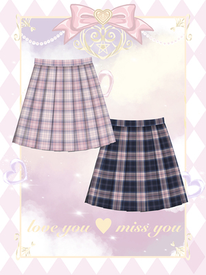 taobao agent Hard candy plus size original orthodox jk uniform lattice skirt fat mm high waist covering meat and thin pleated skirt women buy one get one free