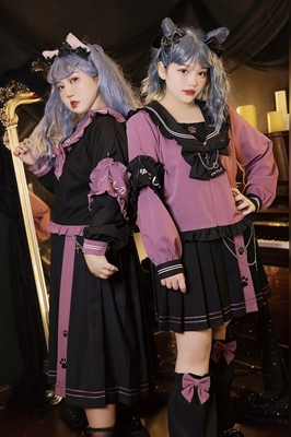 taobao agent Hard candy large size original age reduction cover meat small wild cat dark hot girl JK uniform suit women's 2021 autumn new