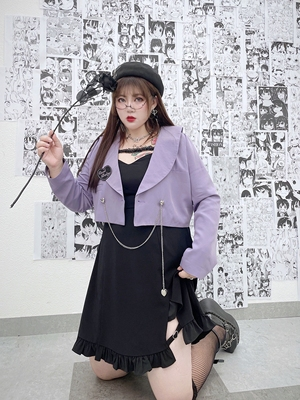 taobao agent Hard candy large size original 2021 autumn new fat MM was thin suit black suit jacket + suspender skirt