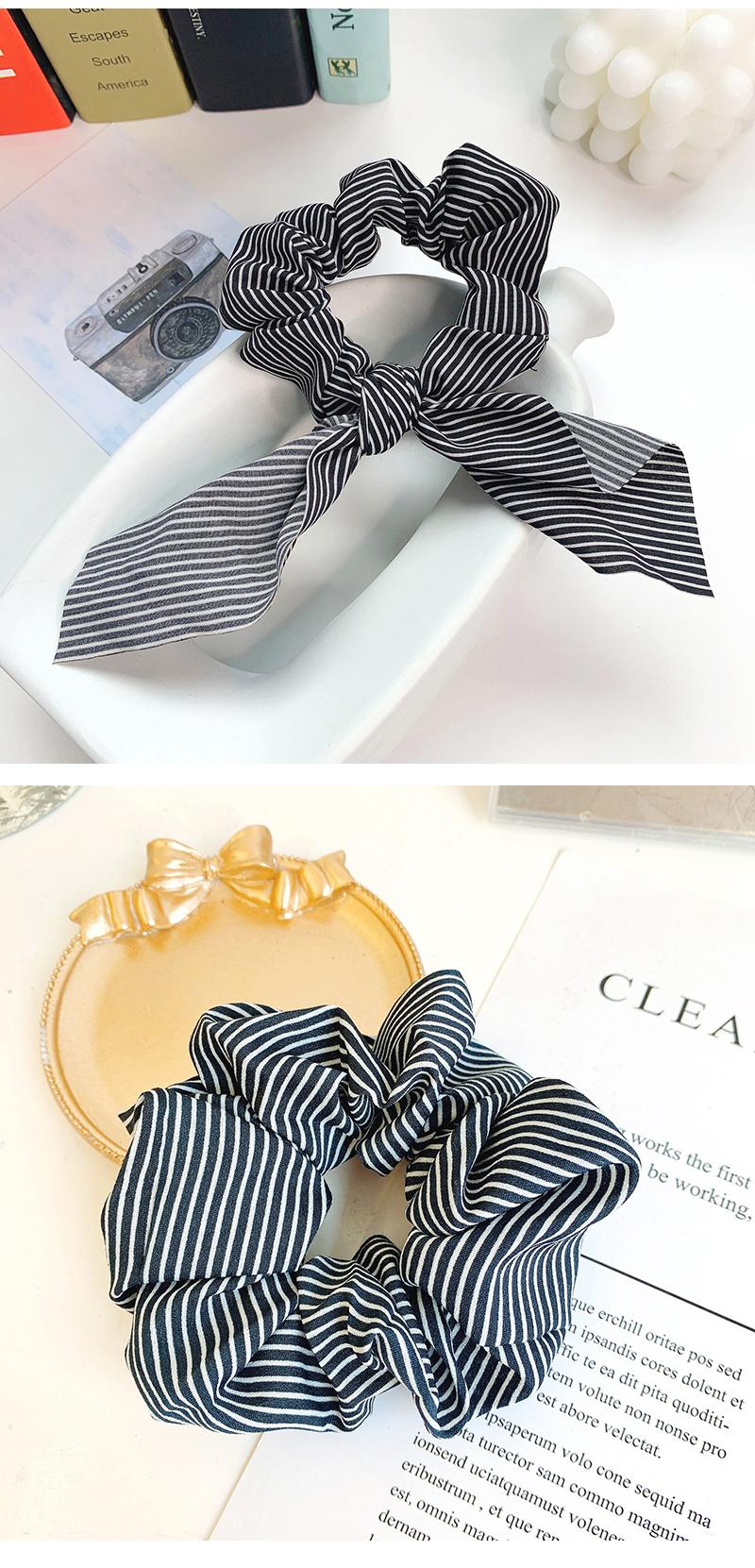 Korean hair accessories female new sweet ribbon cheap hair ring NHOF203853