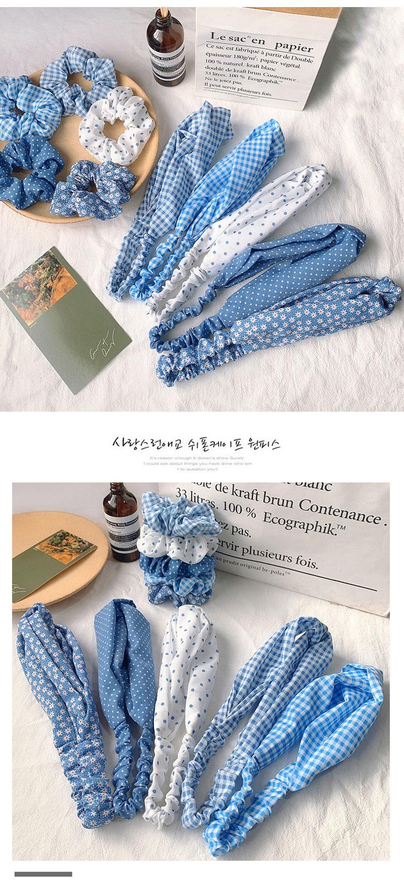 Korean college style blue cross headband wholesale nihaojewelry NHOF243563