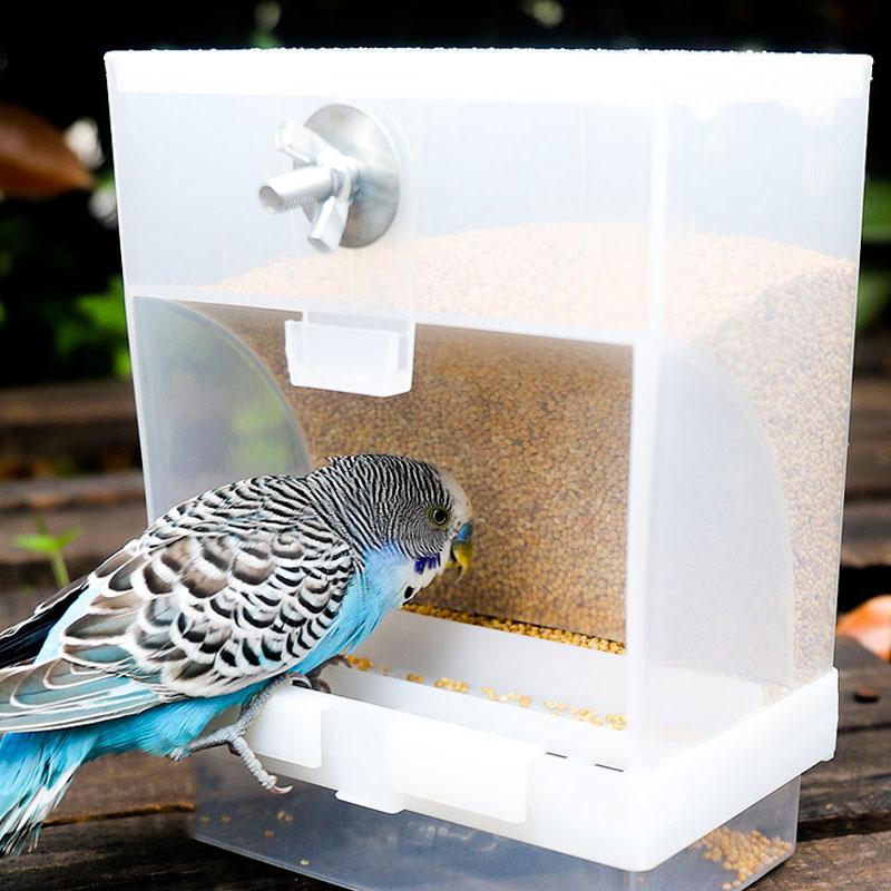 鹦鹉自动喂食器下料器鸟食盒防撒防溅喂鸟器外挂小鸟食罐食碗神器