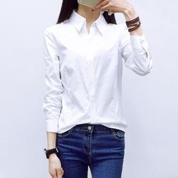 加肥加大码职业装白衬衫女长袖胖mm200斤工作服衬衣2018春装新款