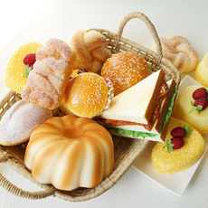 Simulation bread props cabinet accessories lmdec fake cake hamburger decoration pastry heart vegetables and fruits model